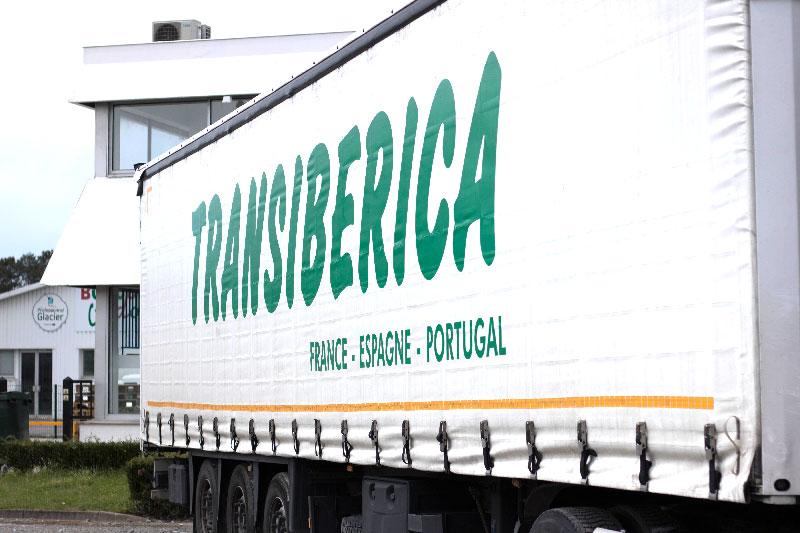 Flotte de camions de la société de transport routier Transiberica