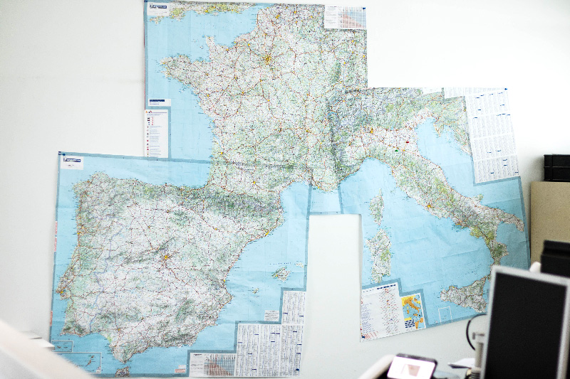 Carte des liaisons routière de transport Transiberica